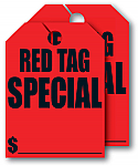 "8 ½"" x 11 ½"" Red Tag Special Hang Tags"